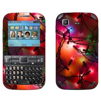 Виниловая наклейка «Новогодняя герлянда» на телефон Samsung C3222 Duos