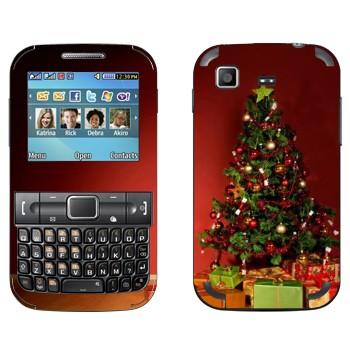 Виниловая наклейка «Новогодняя ёлка» на телефон Samsung C3222 Duos