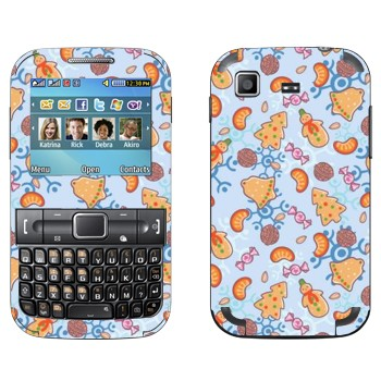 Виниловая наклейка «Новогодняя обложка» на телефон Samsung C3222 Duos