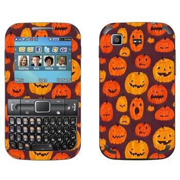 Виниловая наклейка «Разные тыквы к Хэллоуину» на телефон Samsung C3222 Duos