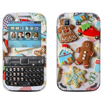 Виниловая наклейка «Рождественские печеньки» на телефон Samsung C3222 Duos