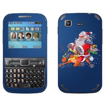 Виниловая наклейка «Санта-супергерой - Новый Год» на телефон Samsung C3222 Duos