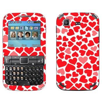 Виниловая наклейка «Сердечки - День Святого Валентина» на телефон Samsung C3222 Duos