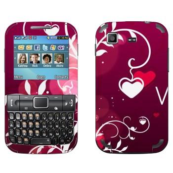 Виниловая наклейка «Сердечки на День Святого Валентина» на телефон Samsung C3222 Duos