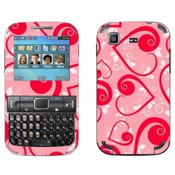 Виниловая наклейка «Сердечки на розовом ко Дню Святого Валентина» на телефон Samsung C3222 Duos