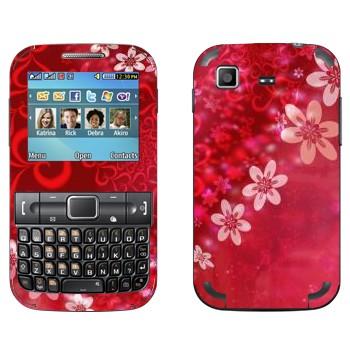 Виниловая наклейка «Сердце из цветов на День Святого Валентина» на телефон Samsung C3222 Duos