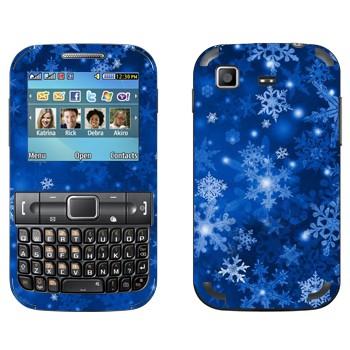 Виниловая наклейка «Снежинки - Новый Год» на телефон Samsung C3222 Duos