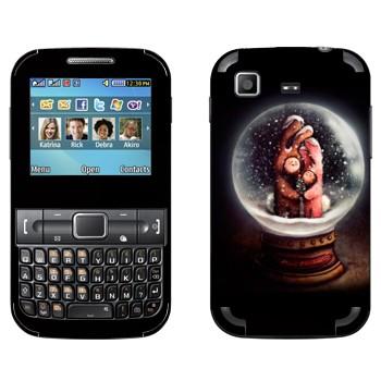 Виниловая наклейка «Сувенир-шарик стеклянный со снегом» на телефон Samsung C3222 Duos