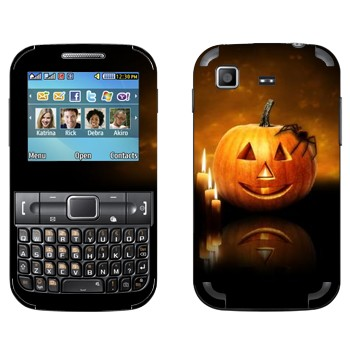 Виниловая наклейка «Тыква и паук» на телефон Samsung C3222 Duos