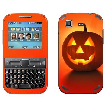 Виниловая наклейка «Тыква на Хэллоуин» на телефон Samsung C3222 Duos