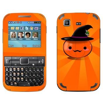 Виниловая наклейка «Тыква в шляпе - Хэллоуин» на телефон Samsung C3222 Duos