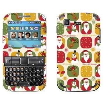 Виниловая наклейка «Веселого Рождества» на телефон Samsung C3222 Duos