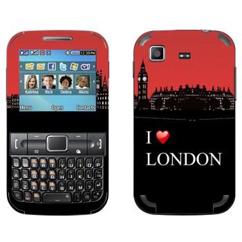 Виниловая наклейка «I love London» на телефон Samsung C3222 Duos