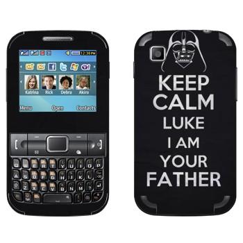 Виниловая наклейка «Keep Calm Luke I am you father» на телефон Samsung C3222 Duos