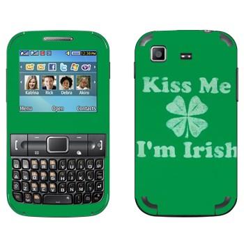 Виниловая наклейка «Kiss me - I'm Irish» на телефон Samsung C3222 Duos