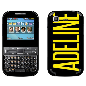 Виниловая наклейка «Adeline» на телефон Samsung C3222 Duos