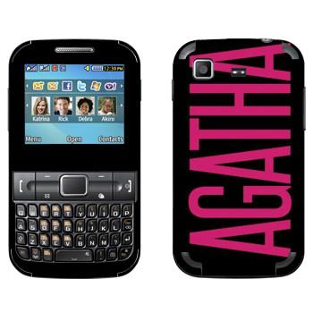 Виниловая наклейка «Agatha» на телефон Samsung C3222 Duos