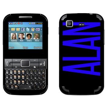 Виниловая наклейка «Alan» на телефон Samsung C3222 Duos