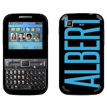 Виниловая наклейка «Albert» на телефон Samsung C3222 Duos