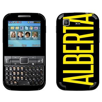 Виниловая наклейка «Alberta» на телефон Samsung C3222 Duos