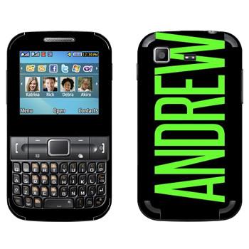 Виниловая наклейка «Andrew» на телефон Samsung C3222 Duos