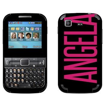 Виниловая наклейка «Angela» на телефон Samsung C3222 Duos