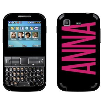 Виниловая наклейка «Anna» на телефон Samsung C3222 Duos