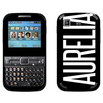 Виниловая наклейка «Aurelia» на телефон Samsung C3222 Duos