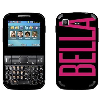 Виниловая наклейка «Bella» на телефон Samsung C3222 Duos