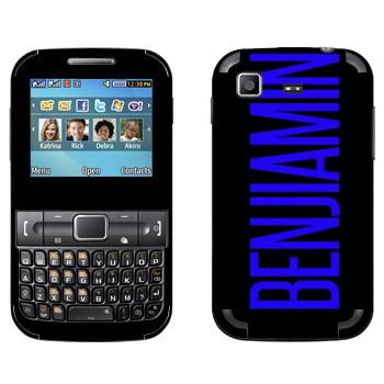 Виниловая наклейка «Benjiamin» на телефон Samsung C3222 Duos