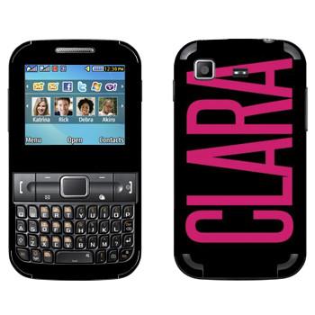 Виниловая наклейка «Clara» на телефон Samsung C3222 Duos