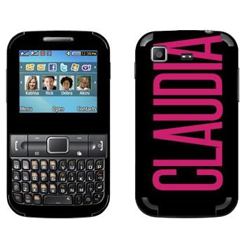 Виниловая наклейка «Claudia» на телефон Samsung C3222 Duos