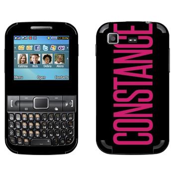 Виниловая наклейка «Constance» на телефон Samsung C3222 Duos