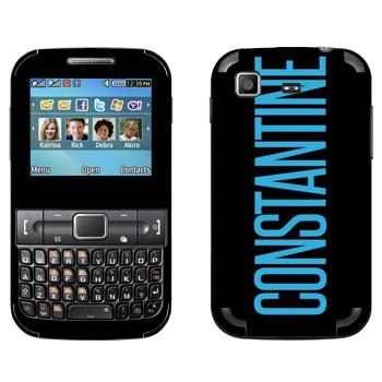 Виниловая наклейка «Constantine» на телефон Samsung C3222 Duos