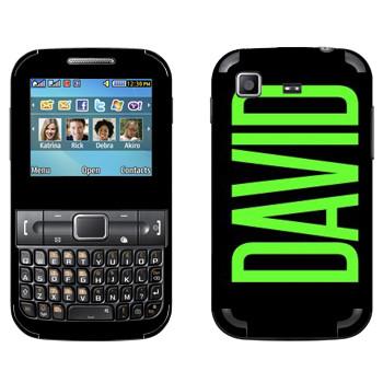 Виниловая наклейка «David» на телефон Samsung C3222 Duos