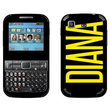 Виниловая наклейка «Diana» на телефон Samsung C3222 Duos