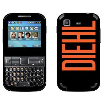 Виниловая наклейка «Diehl» на телефон Samsung C3222 Duos