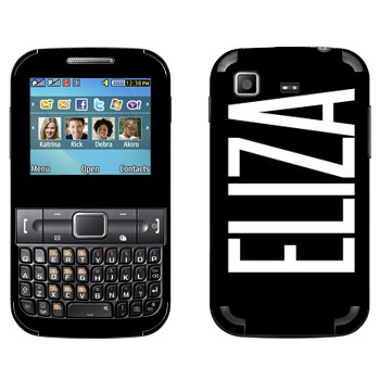 Виниловая наклейка «Eliza» на телефон Samsung C3222 Duos