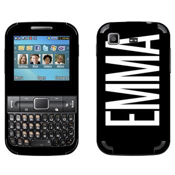 Виниловая наклейка «Emma» на телефон Samsung C3222 Duos