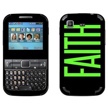 Виниловая наклейка «Faith» на телефон Samsung C3222 Duos