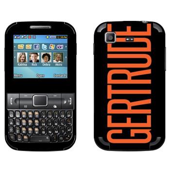 Виниловая наклейка «Gertrude» на телефон Samsung C3222 Duos