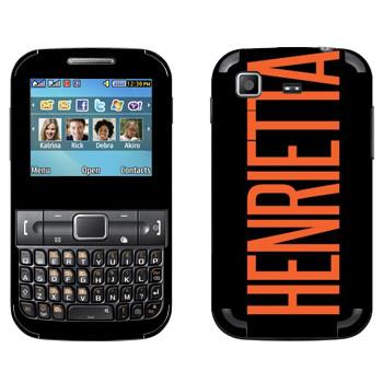 Виниловая наклейка «Henrietta» на телефон Samsung C3222 Duos