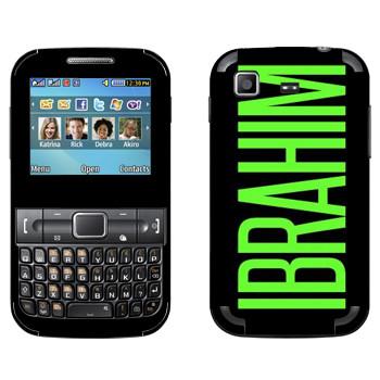 Виниловая наклейка «Ibrahim» на телефон Samsung C3222 Duos