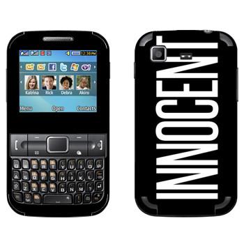 Виниловая наклейка «Innocent» на телефон Samsung C3222 Duos
