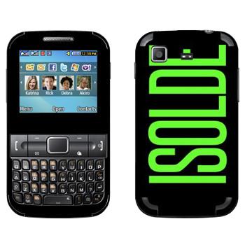 Виниловая наклейка «Isolde» на телефон Samsung C3222 Duos