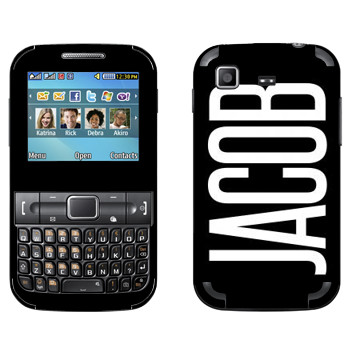 Виниловая наклейка «Jacob» на телефон Samsung C3222 Duos