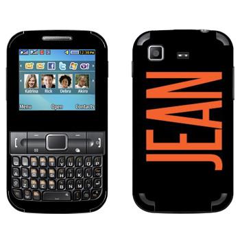 Виниловая наклейка «Jean» на телефон Samsung C3222 Duos