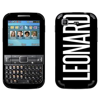 Виниловая наклейка «Leonard» на телефон Samsung C3222 Duos
