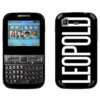 Виниловая наклейка «Leopold» на телефон Samsung C3222 Duos
