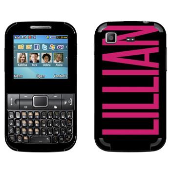 Виниловая наклейка «Lillian» на телефон Samsung C3222 Duos